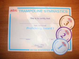 British Gymnastics Proficiency Awards Bronze Floor St